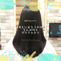 前髪 セミロング ナチュラル ストレート ヘアスタイルや髪型の写真・画像