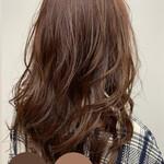 ナチュラル 冬カラー ロング 髪質改善トリートメント