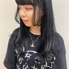 ロング モード ダークトーン 姫カット ヘアスタイルや髪型の写真・画像