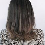 ミディアム グラデーションカラー 髪質改善カラー エレガント