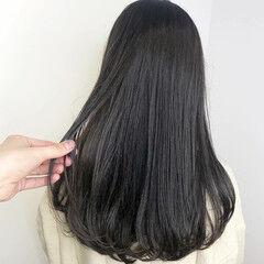 ダークアッシュ ナチュラル ダークカラー ロング ヘアスタイルや髪型の写真・画像