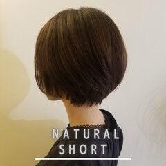 ヘアカット ナチュラル ショート ショートヘア ヘアスタイルや髪型の写真・画像