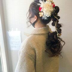 フェミニン ポニーテールアレンジ 成人式 和装髪型 ヘアスタイルや髪型の写真・画像