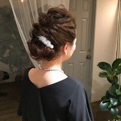 クリスマス ロング デート エレガント ヘアスタイルや髪型の写真・画像
