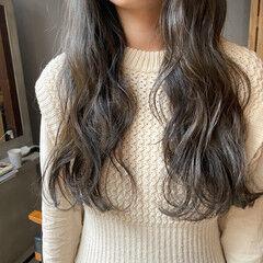 ナチュラル 透明感カラー くすみカラー 暗髪 ヘアスタイルや髪型の写真・画像
