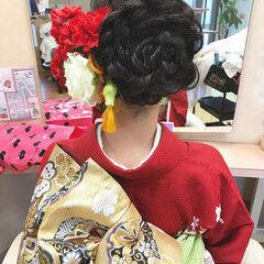上品 エレガント 結婚式 花 ヘアスタイルや髪型の写真・画像