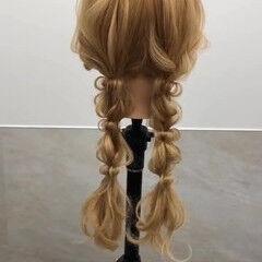 ヘアアレンジ ロング 編みおろしツイン 編みおろし ヘアスタイルや髪型の写真・画像