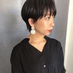 ショートヘア 黒髪ショート ベリーショート モード