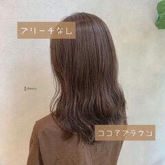 ナチュラル 秋 秋ブラウン ココアブラウン ヘアスタイルや髪型の写真・画像