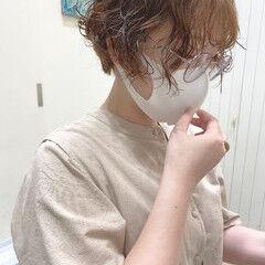 モテ髪 ショート 韓国ヘア フェミニン ヘアスタイルや髪型の写真・画像