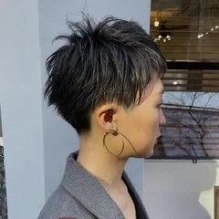 刈り上げショート ベリーショート 刈り上げ女子 韓国ヘア ヘアスタイルや髪型の写真・画像
