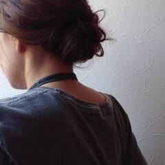 ナチュラル お祭り ヘアアレンジ ミディアム ヘアスタイルや髪型の写真・画像