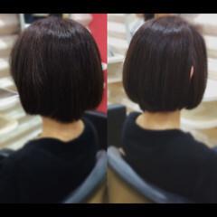 髪質改善トリートメント ナチュラル 髪質改善カラー ボブ ヘアスタイルや髪型の写真・画像