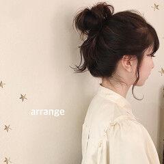 大人かわいい ミディアム ヘアアレンジ ナチュラル ヘアスタイルや髪型の写真・画像