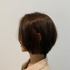 抜け感 艶髪 ボブ フェミニン ヘアスタイルや髪型の写真・画像