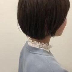 ショート フェミニン ショートボブ 大人女子 ヘアスタイルや髪型の写真・画像
