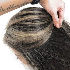 外国人風カラー ママ ブロンド バレイヤージュ ヘアスタイルや髪型の写真・画像