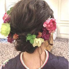 セミロング 卒業式 ヘアアレンジ 成人式 ヘアスタイルや髪型の写真・画像