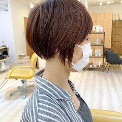 ナチュラル 刈り上げ ショート 刈り上げ女子 ヘアスタイルや髪型の写真・画像