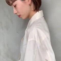 ボブ ミルクティーベージュ 名古屋市 ベージュ ヘアスタイルや髪型の写真・画像