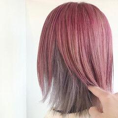 モード ショート 裾カラー インナーカラー ヘアスタイルや髪型の写真・画像