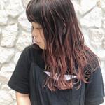 外国人風カラー ピンク バレイヤージュ ハイライト