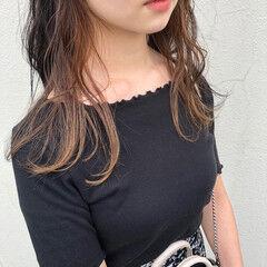 ロング ガーリー インナーカラー #インナーカラー ヘアスタイルや髪型の写真・画像