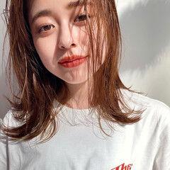 ウェットヘア 透明感カラー ナチュラル ヘルシー ヘアスタイルや髪型の写真・画像