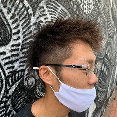 メンズパーマ ツイスト コーンロウ ドレッド ヘアスタイルや髪型の写真・画像