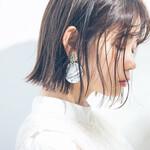 ミニボブ 黒髪 カジュアル モテ髪