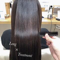 ロング ダメージレス 髪質改善トリートメント 圧倒的透明感 ヘアスタイルや髪型の写真・画像