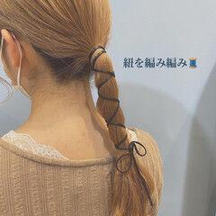 セルフヘアアレンジ ナチュラル ヘアアレンジ 簡単ヘアアレンジ ヘアスタイルや髪型の写真・画像