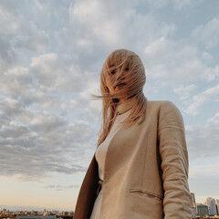 モード ロング ハイトーン ハイトーンカラー ヘアスタイルや髪型の写真・画像