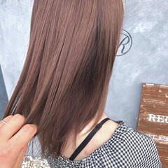 ガーリー ピンクベージュ ラズベリーピンク ピンクブラウン ヘアスタイルや髪型の写真・画像