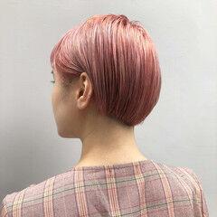 ピンクヘア ボブ ミニボブ ラベンダーピンク ヘアスタイルや髪型の写真・画像