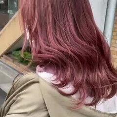 ミディアム ストリート 3Dハイライト 可愛い ヘアスタイルや髪型の写真・画像