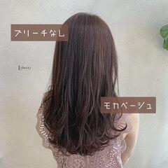 秋ブラウン 秋冬スタイル モカベージュ モカブラウン ヘアスタイルや髪型の写真・画像