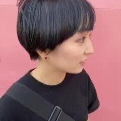 ナチュラル ショート マニッシュ ヘアスタイルや髪型の写真・画像