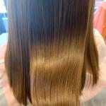ロング ナチュラル 髪質改善トリートメント 艶髪