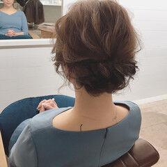 結婚式 デート ヘアアレンジ ナチュラル ヘアスタイルや髪型の写真・画像