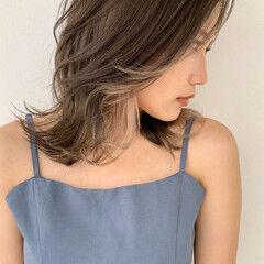 コンサバ 大人かわいい インナーカラー ウルフカット ヘアスタイルや髪型の写真・画像