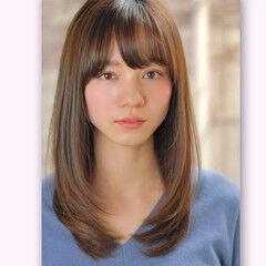 大人かわいい ナチュラル ストレート 簡単スタイリング ヘアスタイルや髪型の写真・画像