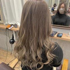 愛され モテ髪 ハイトーン ベージュ ヘアスタイルや髪型の写真・画像