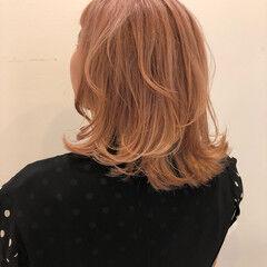 似合わせ ハイトーン ミディアム ハイトーンカラー ヘアスタイルや髪型の写真・画像
