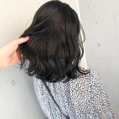 ボブ 切りっぱなしボブ ナチュラル 暗髪女子 ヘアスタイルや髪型の写真・画像