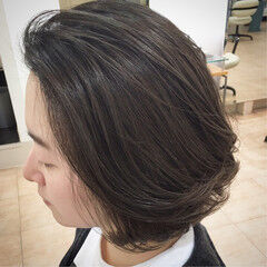 紫 ツヤ 透け感 コンサバ ヘアスタイルや髪型の写真・画像
