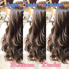 グラマラス 秋 冬 ロング ヘアスタイルや髪型の写真・画像