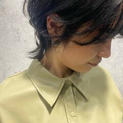 ニュアンスウルフ ウルフ女子 ウルフカット ミディアム ヘアスタイルや髪型の写真・画像