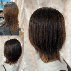 コンサバ 髪質改善 髪質改善カラー ウルフ女子 ヘアスタイルや髪型の写真・画像