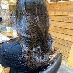 ナチュラル 韓国風ヘアー グレージュ 韓国ヘア ヘアスタイルや髪型の写真・画像